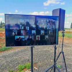 החתונה של גל & ליאור, הקרנה של טקס החופה על גבי מסך טלוויזיה, שידור הטקס בזום וביוטיוב במקביל, הקלטה של טקס החופה ושל שיחת הזום, שירותי מוסיקה - הגברה ודיג'יי